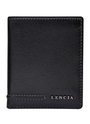 Lencia Leather Bi-Fold Wallet for Men, LMW-15993-B, Black