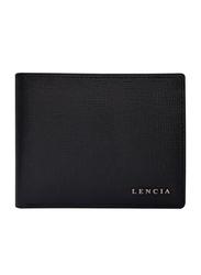 Lencia Leather Bi-Fold Wallet for Men, LMW-15988-B, Black