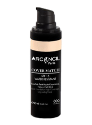Arcancil Fond De Teint Cover Match Liquid Foundation, 00 Procelaine, Beige