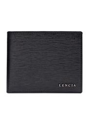 Lencia Leather Bi-Fold Wallet for Men, LMW-16000, Black
