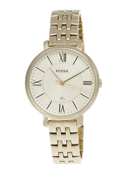 Fossil Analog Stainless Steel Watch for Women, Water Resistant, Gold, ES3434