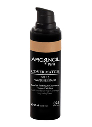 Arcancil Fond De Teint Cover Match Liquid Foundation, 25 Blond Tendre, Brown