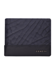 Lencia Leather Bi-Fold Wallet for Men, LMW-15987, Navy Blue