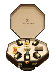 Touch Of Oud 9-Piece Gift Set Unisex, 3 Bukhoor, 3 Dukhoon, Burner, Charcole, Lighter