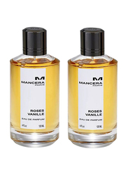 Mancera 2-Piece Roses Vanille Perfume Set for Women, 2 x 120ml EDP
