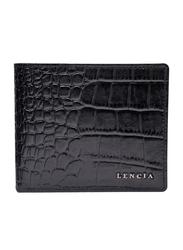 Lencia Leather Bi-Fold Wallet for Men, LMW-15986-B, Black
