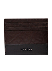 Lencia Leather Card Holder for Men, LMWC-15991, Brown