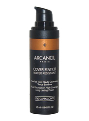 Arcancil Fond De Teint Cover Match Liquid Foundation, 060 Capuccino, Brown