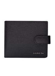 Lencia Leather Bi-Fold Wallet for Men, LMW-15997, Black