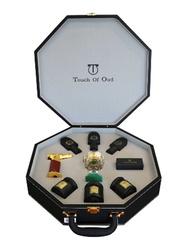 Touch Of Oud 9-Piece Gift Set Unisex, 3 Perfume, 3 Dukhoon, Burner, Charcole, Lighter