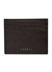 Lencia Leather Card Holder for Men, LMWC-15994, Brown