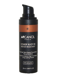 Arcancil Fond De Teint Cover Match Liquid Foundation, 075 Acajou, Brown
