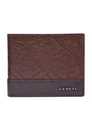 Lencia Leather Bi-Fold Wallet for Men, LMW-15987, Dark Brown