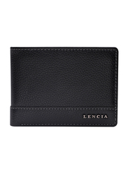 Lencia Leather Bi-Fold Wallet for Men, LMW-15982-B, Black