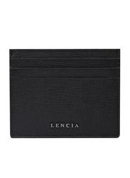 Lencia Leather Card Holder for Men, LMWC-15994, Black