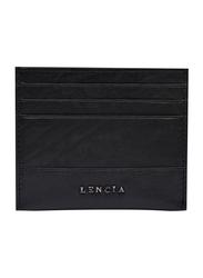 Lencia Leather Card Holder for Men, LMWC-15991, Black