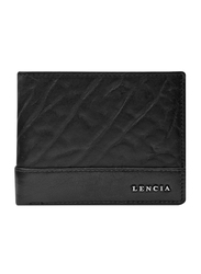 Lencia Leather Bi-Fold Wallet for Men, LMW-15987, Black
