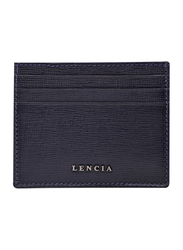 Lencia Leather Card Holder for Men, LMWC-15994, Dark Blue