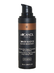 Arcancil Fond De Teint Cover Match Liquid Foundation, 070 Moka, Brown