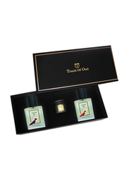 Touch Of Oud 3-Piece Gift Set Unisex, Touch 01 100ml EDP, Touch 03 100ml EDP, Amyaz Dukhoon