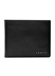 Lencia Leather Bi-Fold Wallet for Men, LMW-16001, Black