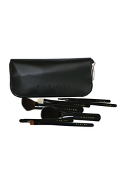 Fabian Cosmetics 7-Pieces Brush Set with Bag, Black