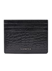 Lencia Leather Card Holder for Men, LMWC-15985, Black