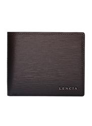 Lencia Leather Bi-Fold Wallet for Men, LMW-16000, Brown