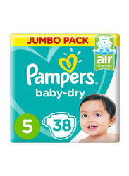 Pampers Baby Dry Diapers, Size 5, 11-18 Kg, 38 Count