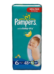 Pampers Active Baby Dry Diapers, Size 6, 15+ Kg, 96 Count