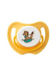 Pigeon Silicone Pacifier S-3 Horse, Orange