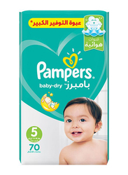 Pampers Baby Dry Diapers, Size 5, 11-18 kg, 70 Count