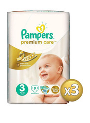 Pampers Diapers Size 3, Midi, 4-9 kg, 27 Count