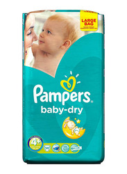 Pampers Baby Dry Diapers, Size 4+, Maxi Plus, 9-20 Kg, 56 Count