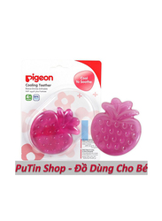 Pigeon Strawberry Fruit Teether, 4+ Months, Pink