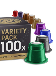 Real Coffee Nespresso Compatible Coffee, Variety Bundle, 10 Packs x 100 Capsules