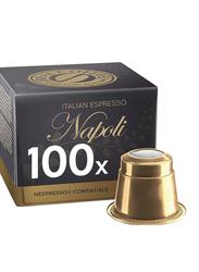Real Coffee Italian Espresso Napoli Nespresso Compatible Coffee, 100 Capsules