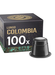 Real Coffee Lungo Colombia Single Origin Coffee, 100 Capsules
