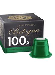 Real Coffee Italian Espresso Bologna Coffee, 100 Capsules