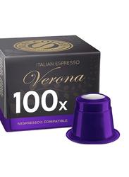 Real Coffee Italian Espresso Verona Coffee, 100 Capsules