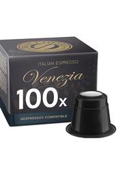 Real Coffee Italian Espresso Venezia Nespresso Compatible Coffee, 100 Capsules