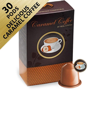 Real Coffee Caramel Nespresso Compatible Coffee, 30 Capsules