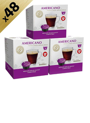 Real Coffee Americano Blend Dolce Gusto-Compatible Coffee, 3 Boxes x 16 Capsules