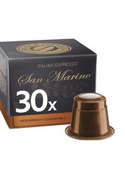 Real Coffee Italian Espresso Lungo San Marino Coffee, 30 Capsules