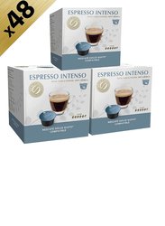 Real Coffee Espresso Intense Blend Dolce Gusto-Compatible Coffee, 3 Boxes x 16 Capsules