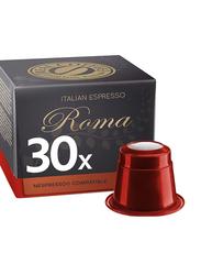Real Coffee Italian Espresso Roma Nespresso Compatible Coffee, 30 Capsules
