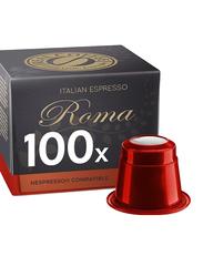Real Coffee Italian Espresso Roma Nespresso Compatible Coffee, 100 Capsules