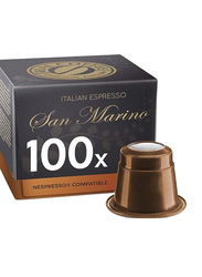 Real Coffee Italian Espresso San Marino Nespresso Compatible Coffee, 100 Capsules