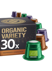 Real Coffee Organic Espresso and Lungo Selection Nespresso Compatible Coffee, 3 Boxes x 30 capsules
