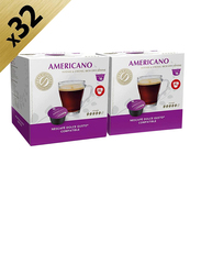 Real Coffee Americano Blend Dolce Gusto-Compatible Coffee, 2 Boxes x 16 Capsules